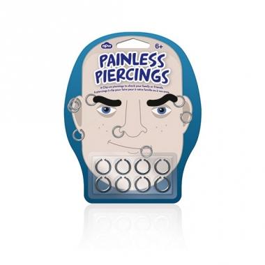 Zilveren nep piercings 8 suks