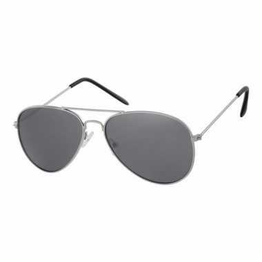 Zilveren pilotenbrillen voor kinderen