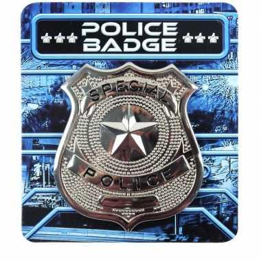 Zilveren politie badge accessoires