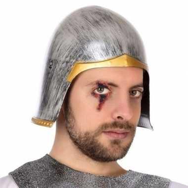 Zilveren ridder helm voor heren