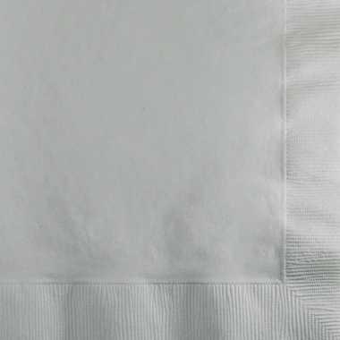 Zilveren servetten 33x33 cm 20 stuks