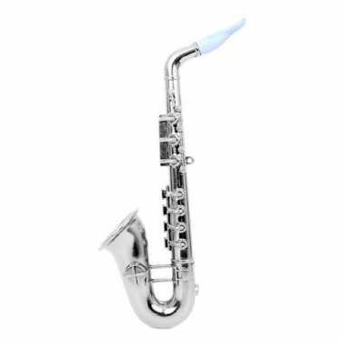 Zilveren speelgoed saxofoon