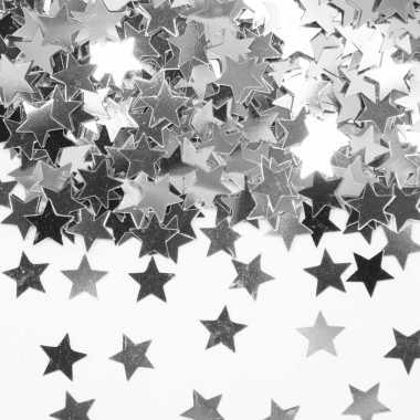 Zilveren sterretjes confetti versiering 2 zakjes