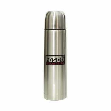 Zilveren thermosfles 1 liter