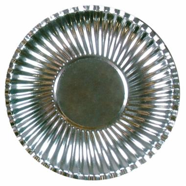 Zilveren wegwerp borden 29 cm