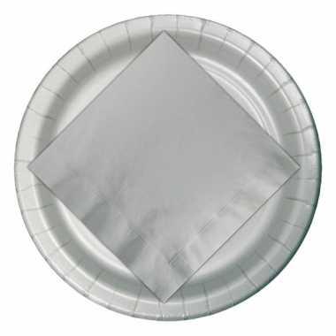 Zilveren wegwerp bordjes 23 cm
