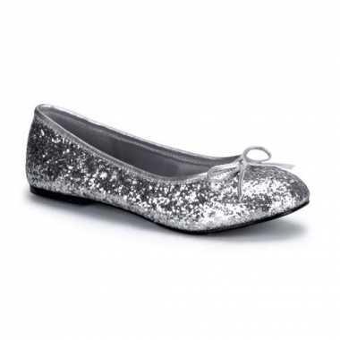 Zilverkleurige flatjes met glitters
