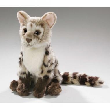 Zittende genet kat knuffel dier 21 cm