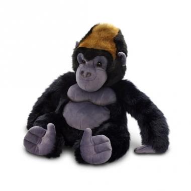 Zittende gorilla/aap knuffeldier 45cm