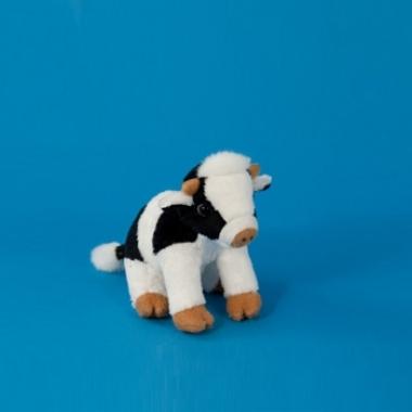 Zittende koe knuffel 15 cm