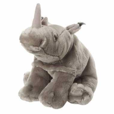Zittende neushoorn knuffel 18 cm