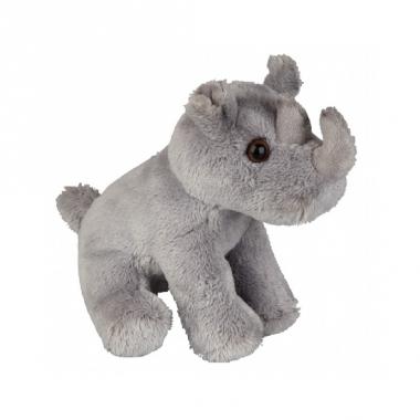Zittende neushoorn knuffels 15 cm
