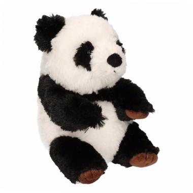 Zittende panda beer 19 cm