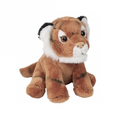 Zittende tijger knuffels 13 cm
