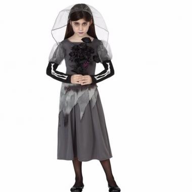 Zombie bruid meisjes jurk grijs