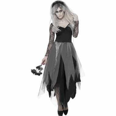 Zombie bruid verkleedkleding voor dames