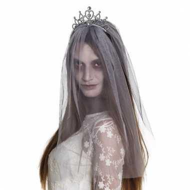 Zombie prinses tiara met sluier