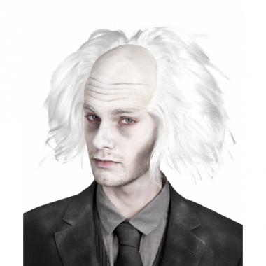 Zombie pruiken wit voor heren