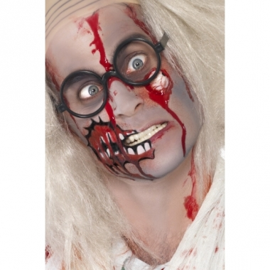 Zombie set met litteken en bloed