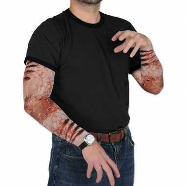 Zombie verkleed/feest tattoosleeves voor volwassenen