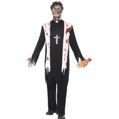 Zombiepak priester kostuum