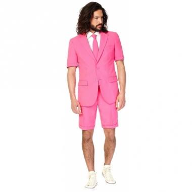 Zomerkostuum roze voor heren