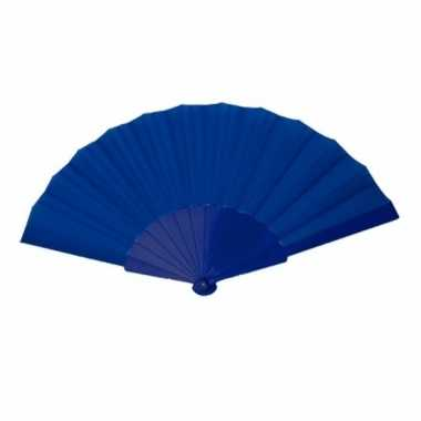 Zomerse waaier blauw 23 cm