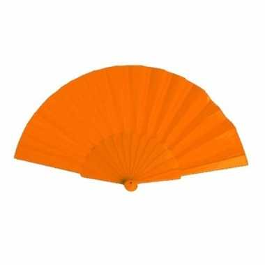 Zomerse waaier oranje 23 cm