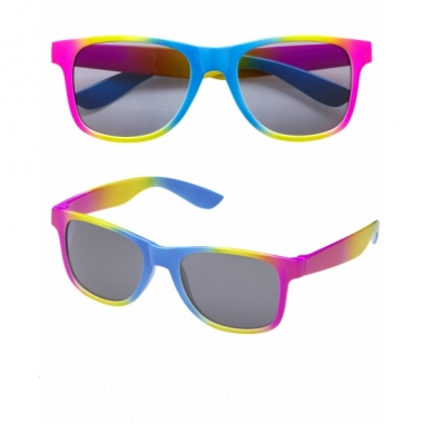Zomerse zonnebril multi color