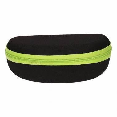 Zonnebrillen etui zwart met groen