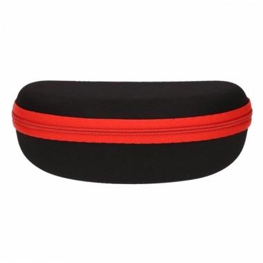 Zonnebrillen etui zwart met rood