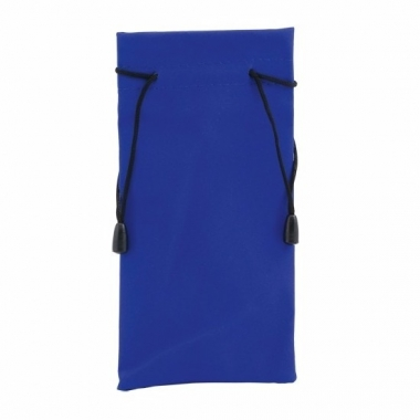 Zonnebrillen hoesje blauw 18 cm