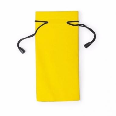 Zonnebrillen hoesje geel 18 cm