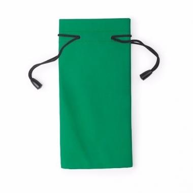 Zonnebrillen hoesje groen 18 cm