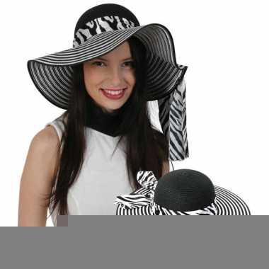 Zonnehoed met zebra band