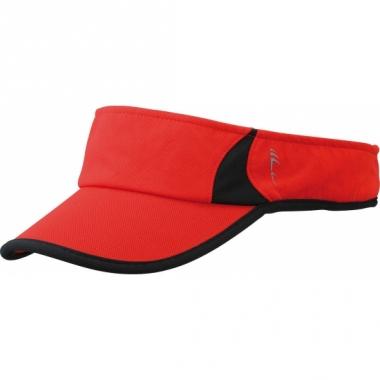 Zonneklep voor hardlopers rood/zwart