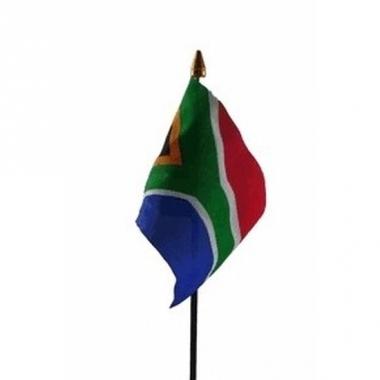 Zuid afrika vlaggetje polyester