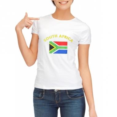 Zuid afrikaanse vlag t-shirt voor dames