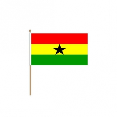 Zwaaivlaggetje van ghana 30 cm