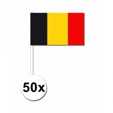 Zwaaivlaggetjes belgie 50 stuks