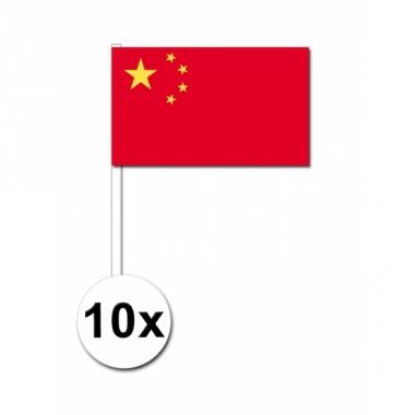 Zwaaivlaggetjes china 10 stuks