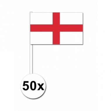 Zwaaivlaggetjes engeland 50 stuks