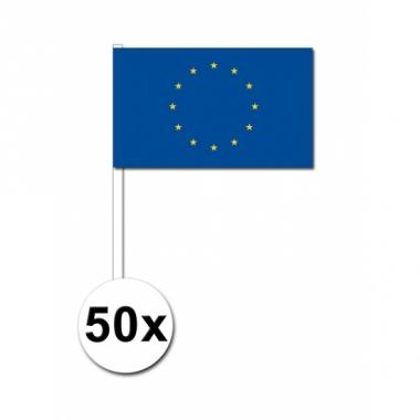Zwaaivlaggetjes europa 50 stuks