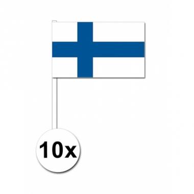 Zwaaivlaggetjes finland 10 stuks