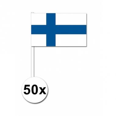 Zwaaivlaggetjes finland 50 stuks