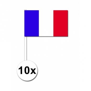 Zwaaivlaggetjes frankrijk 10 stuks