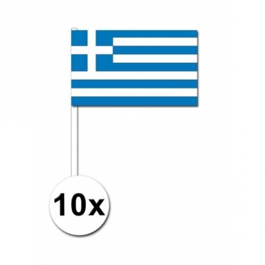 Zwaaivlaggetjes griekenland 10 stuks