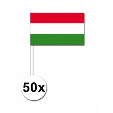 Zwaaivlaggetjes hongarije 50 stuks