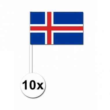 Zwaaivlaggetjes ijsland 10 stuks