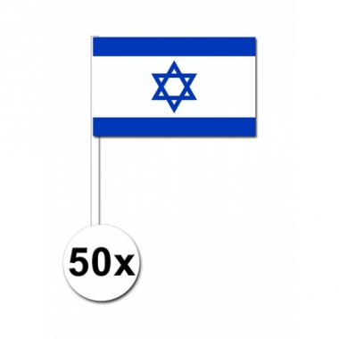 Zwaaivlaggetjes israel 50 stuks